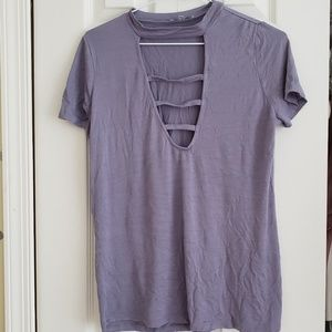 Tops - ❤Charlotte Ruse| Purple Laddercut T-shirt❤
